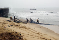 Afrikaanse vissers stock foto