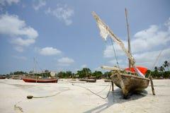 Afrikaanse Vissersboot Royalty-vrije Stock Afbeelding