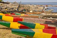 Afrikaanse vissersboten Stock Afbeeldingen