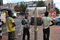 Afrikaanse vluchtelingen in Israël Royalty-vrije Stock Foto's