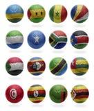 Afrikaanse Voetbal van R aan Z Stock Afbeelding