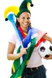 Afrikaanse voetbalventilator Stock Foto's
