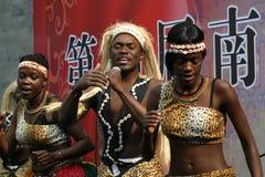 Afrikaanse volkslied en dans Stock Foto's