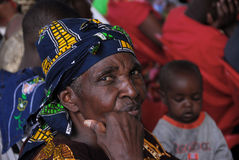 Afrikaanse vrouw stock afbeelding