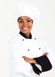 Afrikaanse vrouwelijke chef-kok Royalty-vrije Stock Afbeelding