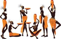Afrikaanse vrouwen vector illustratie