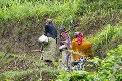 Afrikaanse vrouwen - Rwanda stock fotografie