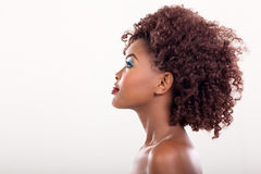 Afrikaanse vrouwenschoonheid stock foto