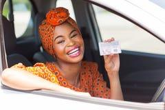Afrikaanse vrouwenvergunning royalty-vrije stock afbeeldingen
