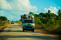Afrikaanse weg Royalty-vrije Stock Foto's