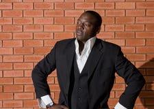 Afrikaanse zakenman royalty-vrije stock fotografie