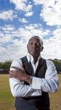 Afrikaanse zakenman Stock Foto's