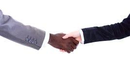 Afrikaanse zakenman het schudden handen stock fotografie