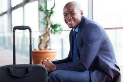 Afrikaanse zakenmanluchthaven Stock Foto