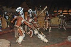 Afrikaanse Zoeloes dansers stock foto's