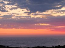 Afrikaanse Zonsondergang royalty-vrije stock foto