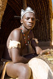 Afrikaanse zulu mens stock fotografie