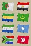 afrikan åtta flaggor royaltyfri illustrationer