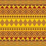 Afrikan Art des dekorativen nahtlosen Musters Lizenzfreies Stockfoto