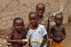 afrikan fyra flickor Royaltyfri Foto