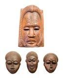 afrikan fyra maskeringar Arkivbild