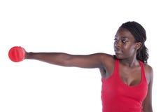 afrikan som övar den förmögna kvinnan royaltyfria bilder