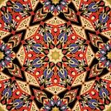 Afrikan stiliserad färgrik modell Arkivfoto