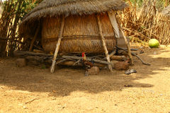 Afrikan Straw House Royaltyfri Foto