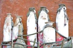 Afrikan style. Antik ,brown handicrafts keramik on african market Royalty Free Stock Image