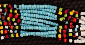 afrikanen beads rad Royaltyfria Bilder