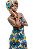 Afrikanen danar modellerar. Royaltyfri Foto