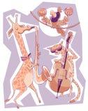 Afrikanen frigör jazz stock illustrationer