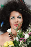afrikanen gör upp stil Royaltyfria Bilder