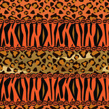 Afrikanen utformar seamless bakgrund Arkivfoton