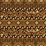 Afrikanen utformar seamless med cheetahen flår mönstrar Arkivfoto