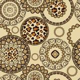 Afrikanen utformar seamless med cheetahen flår mönstrar Arkivbilder