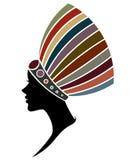 Afrikanerinschattenbildmode-modelle auf weißem Hintergrund Lizenzfreie Stockfotografie