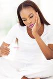 Afrikanerinschwangerschaft Lizenzfreie Stockfotos