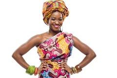 Afrikanisch-amerikanisches Mode-Modell. Stockfoto