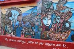 Afrikanisch-Kubanermalereien in Callejon de Hamel, Havana Stockfotos