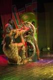 Afrikanische Akrobat-Leistung auf dem Stadium stockfotografie