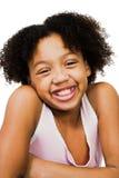 Afrikanische Amerika-Mädchenstellung Stockbild