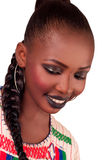 Afrikanische Art und Weiseschönheit fulani Stockbild