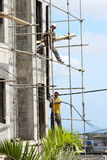 Afrikanische Bauarbeiter Stockfoto