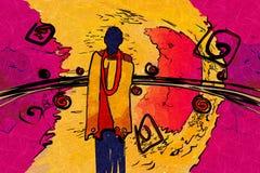Afrikanische bewegende ethnische Retro- Weinlese Lizenzfreies Stockbild