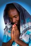 Afrikanische christliche Frau Stockbild