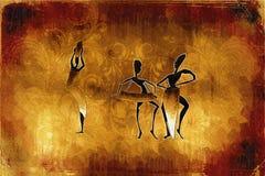 Afrikanische ethnische Retro- Weinleseillustration Lizenzfreies Stockfoto