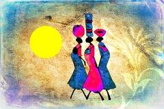 Afrikanische ethnische Retro- Weinlesekunst Lizenzfreie Stockfotos