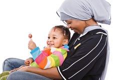 Afrikanische Familie lizenzfreie stockfotos