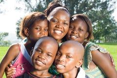 Afrikanische Familie stockbilder